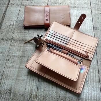 compagnon - 20,5x11,5cm rangement : cartes, chéquier, ticket bus, stylo, poches zippées, porte monnaie amovible
